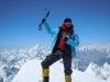 Gerfried mit Familie am Gipfel des Gasherbrum I