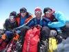 Vier Österreicher am Gipfel des G1: MD Stefan (1. 8000er), Hans (4. 8000er), Günther (3. 8000er), Gerfried (7. 8000er)