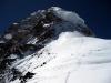 Freie Sicht von der Schulter zum Gipfel des K2