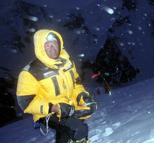 Gerfried am K2. Im Abstieg auf 7500m