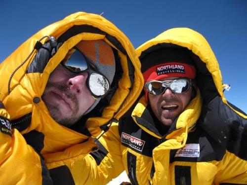 Am Gipfel mit Louis Rousseau. Foto mit freundlicher Genehmigung von Louis.